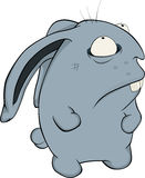Blue rabbit. Cartoon Royalty Free Stock Photography
