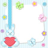 Blue rabbits cards Stock Photography