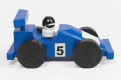 Blue race car I Royalty Free Stock Photo