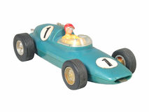 Blue race car toy / Formula One blue Stock Image