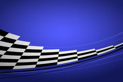 Blue racing background. Sport banner. Checker flag. eps10 Royalty Free Stock Photo