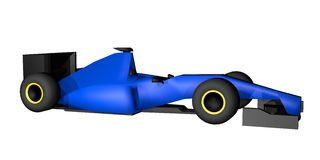 Blue racing car Stock Images