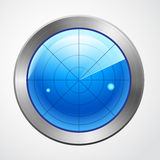 Blue radar display isolated Stock Photos