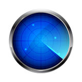 Blue radar Royalty Free Stock Images