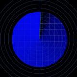 Blue radar screen Royalty Free Stock Photo