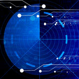 Blue radar screen Stock Photography