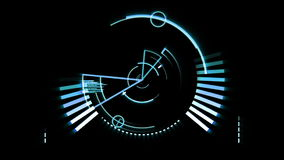 Blue radar screen stock video footage