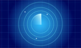 Blue radar screen. Vector illustration Royalty Free Stock Photos