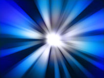 Blue radial abstract background Royalty Free Stock Image