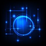 Blue radial background. Royalty Free Stock Photo