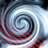 Blue Radial Swirl Red Lines. Blue and white radial flowing swirl with red lines / beams running through it stock photos