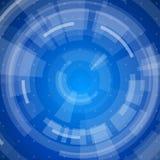 Blue radial technology background Royalty Free Stock Image