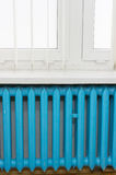 Blue radiator Stock Images