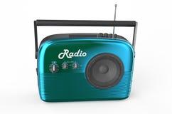 Blue radio. Isolated on white background Stock Photo