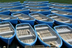 BLUE RAFTS Royalty Free Stock Image