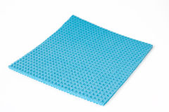 Blue rag. Blue reg on white background Stock Photo