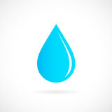 Blue rain drop vector icon Royalty Free Stock Images
