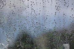 Blue Rain Drops Royalty Free Stock Photos