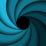 Blue rainbow swirl, simple background Royalty Free Stock Images