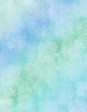 Blue rainbow watercolor paper Stock Image
