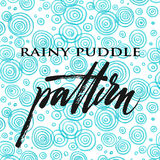 Blue rainy puddle colored pencil pattern Royalty Free Stock Images