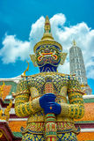 Blue raised at emerald buddha temple Royalty Free Stock Photography