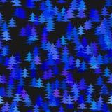 Blue random pine tree background - winter decoration design Royalty Free Stock Photo