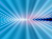 Blue ray. Blue  and white  ray of light. abstract illustration Stock Image