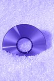 Blue ray. Compact disk with plastic granulate Royalty Free Stock Photos