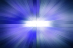 Blue ray background with white blank at center Royalty Free Stock Photography