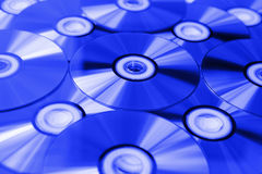 Blue ray discs Royalty Free Stock Image