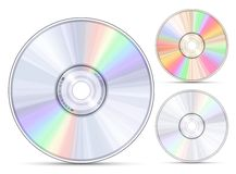 Blue-ray, DVD or CD disc Royalty Free Stock Photo