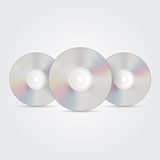 Blue-ray, DVD or CD disc. Vector Stock Images