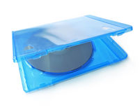 Blue ray DVD CD packaging royalty free stock photo
