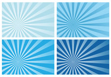 blue ray sunburst background Stock Photography