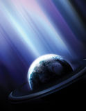 Blue Rays 2 Stock Image