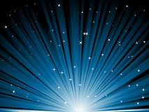 Blue rays. Vector illustration of blue rays with starts Royalty Free Stock Images
