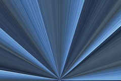 Blue Rays Abstract. A digitally generated image creating the sahpe of rays with highlights and shadows for a 3D effect Stock Photography
