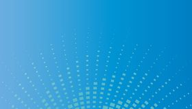 Blue Rays Background. Background illustration of rays of blue squares Stock Photography