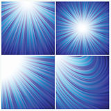 Blue rays background Stock Photo
