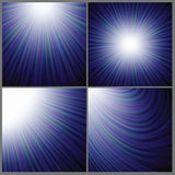 Blue rays background Stock Images