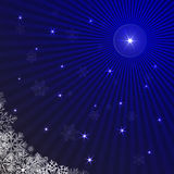 Blue rays Christmas background Royalty Free Stock Photography
