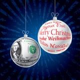 Blue rays christmas dollar Stock Photo