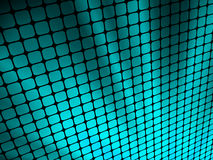 Blue rays light 3D mosaic. Royalty Free Stock Images