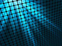 Blue rays light 3D mosaic. EPS 8 Royalty Free Stock Photos