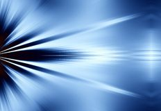 Blue Rays of Light Background Royalty Free Stock Image