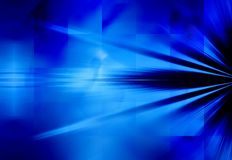 Blue Rays of Light Background Stock Photo
