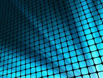 Blue rays light 3D mosaic. EPS 10. Vector file included Royalty Free Stock Photography