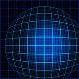 Blue rays light 3D mosaic. Stock Photos