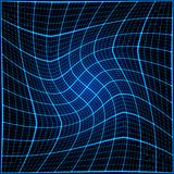 Blue rays light 3D mosaic. EPS 10 vector file included Royalty Free Stock Photos